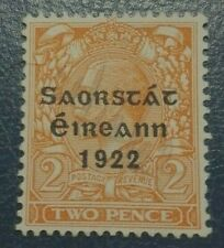 Irish Rare :1922 Free State Ireland 2P Collectible Stamp.