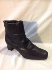Tlc By Bhs Black Ankle Leather Boots Size 4