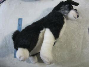 Large FAO Schwarz Dog Plush Sitting RARE DELUXE HTF