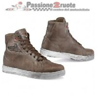 Scarpe moto vintage scrambler Tcx Street Ace WP coffee brown shoes waterproof