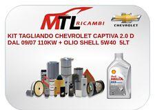 KIT TAGLIANDO CHEVROLET CAPTIVA 2.0 D DAL 09/07 110KW + OLIO SHELL 5W40  5LT