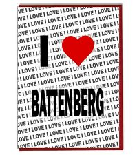 Greeting Card - Birthday Card - I Love Battenberg