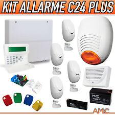 KIT ALLARME FILARE PROFESSIONALE AMC C24 PLUS DOPPIA TECNOLOGIA CHIAVE SIRENA -T
