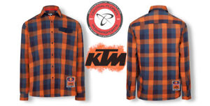 New RED BULL KTM RACING TEAM CHECKED SHIRT All Sizes Button Down
