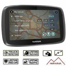 TomTom Trucker 6000 Lifetime GPS Sat Nav - Full Europe Lifetime Maps & Traffic