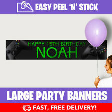 XBOX Personalised Birthday Party Banners (110cm x 21.5cm) + Design Service