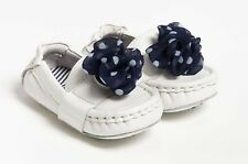 NEW Cole Haan White Mini Penny Driver Baby Shoes Penny Loafers U.S Size 6