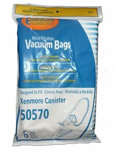 Kenmore Canister Style 50570 Vacuum Cleaner Bags 8 pack