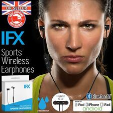 IFX Sports Bluetooth Earphones Headphones Sweatproof Wireless iPhone Android