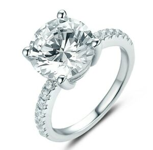 3.5CT Round 925 Sterling Silver CZ Engagement Ring Wedding Band Size 3-14 ML055