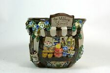 Vintage Pottery Signed Stoneware Planter The Village Stores Diorama