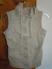 SO womens sleeveless button-down hooded shirt or jacket Juniors size S