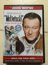 John Wayne Maureen O' Hara MCLINTOCK ~ 1963 Western Classic Widescreen UK DVD