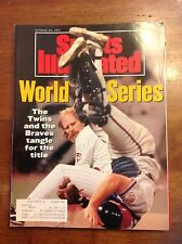 October 28 1991 World Series Minnesota Twins Baseball Sports Illustrated Braves