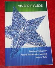 2012 BERKSHIRE HATHAWAY SHAREHOLDERS MEETING VISITORS GUIDE  warren buffett
