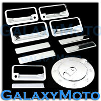 92-99 GMC+Chevy Suburban Chrome 4 Door Handle+PSG Keyhole+Tailgate+Gas Cover