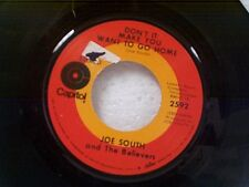 """JOE SOUTH """"DON'T IT MAKE YOU WANT TO GO HOME / HEARTS DESIRE"""" 45"""