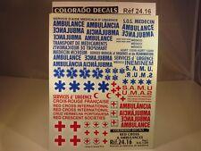 DECALS 1/24 CROIX ROUGE ET AMBULANCES - COLORADO  2416