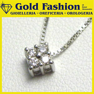 Collana oro con diamante ct. 0,12 - cod. GF5003