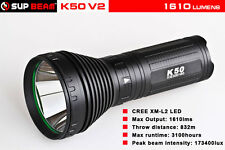 SupBeam K50 v2 XM-L2 1610 Lumen 760 Meter LED Long Distance Flashlight