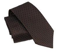 NEW/AUTHENTIC GUCCI349391 Men's Interlocking GG Woven 100% Silk Tie, Brown