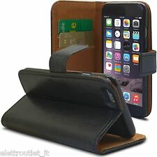 FLIP COVER CUSTODIA SLOT CARTE PER APPLE IPHONE 6S PLUS PORTAFOGLIO LIBRO NERA