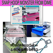"DIME Embroidery Multi Needle Monster Magnetic Hoop 5X7"" Brother PR600 PR655 BMP"