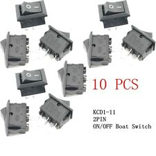 10Pcs G130 SPST 2PIN ON/OFF Barco Interruptor 3A / 250V tablero coche