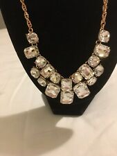 NEW SIGNED CHARTER CLUB!! Beautiful Rose Gold Rhinestone Necklace!! 20""