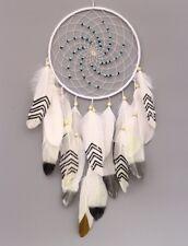 Traumfänger - weißer großer Dreamcatcher 20 cm Ringdurchmesser, Länge ca. 50 cm