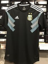 Adidas Argentina Away Jersey Authentic Black Player Version Size Large  Only
