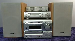 Sony DHC-MD373 Stereo System CD + Minidisc TC-TX373 Cassette Player With Remote
