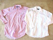 Lot, 2 mens size 16 32/33 dress shirts, Ralph Lauren, Nicole Miller