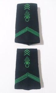 Paire des Fourreaux d'épaules Grades Galons LÉGION pour légionnaire de 1°Classe