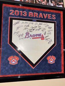 Rare Atlanta Braves 2013 Team Autographed Home Plate