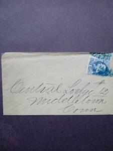 US  SC 156C 1 CENT BLUE FRANKLIN ON ENVELOPE W/UNUSED APPLICATION