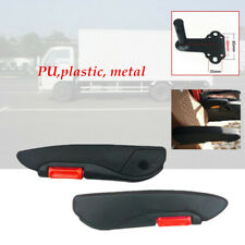 2×Truck Adjustable Left Right iron/ABS Arm Rest Seat Arm Console Clamp Install