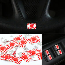 10x Japan Flag Sticker Emblem Car Badge for Mazda Toyota Nissan Mitsubishi