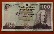 More details for rbs royal bank of scotland £100 note 2007 a/2 951097. circulated.