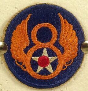 World War II WW II Army Air Force USAAF 8th Air Force Insignia Badge Patch V 1