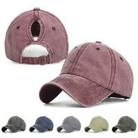 Baseball Cap Horsetail Hat Ponytail Empty Top Solid Hip-Hop Hat Vintage UK Women
