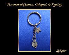 Four Leaf Clover Lucky Charm Keyring Key Chain Birthday Christmas Gift