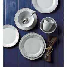 Lenox French Carved Scalloped 16-Piece Dinnerware Set - White