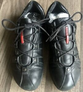 Ecco Womens  Black Leather Lace Up Shoes Size 38*