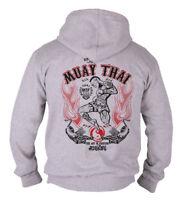 Dirty Ray Martial Arts MMA Muay Thai Men's Hooded Sweatshirt Jumper Bodybuilding