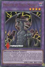 ♦Yu-Gi-Oh!♦ Dragon du Virus Maudit (Broyeur Cartes) : LCKC-FR064 -VF/Ultra Rare-