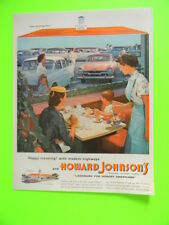 1955 HAPPY TRAVELING! WITH MODERN HIGHWAYS AND HOWARD JOHNSON'S COLOR ART AD