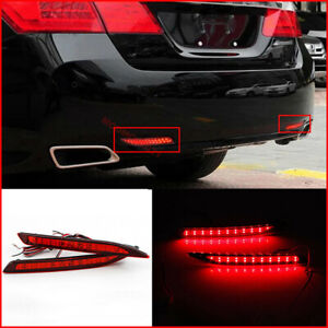1Pair LED Rear Bumper Lights Assembly For Honda Accord Nine Generation 2014-2015