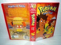 Pokemon -Thunder Shock- VHS Video Tape & Case, Warner Bros. U, 3 Episodes, Vol 5
