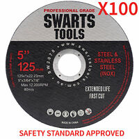 "100 x 5"" 125MM CUTTING DISC WHEEL THIN ANGLE GRINDER CUT OFF METAL STEEL FLAP"